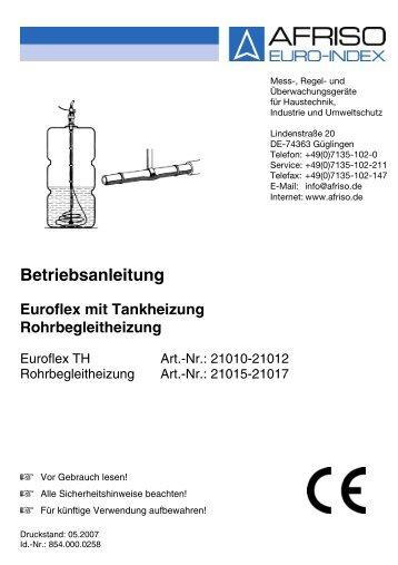 Betriebsanleitung für Euroflex mit Tankheizung (1.064 KB) - Wekonn