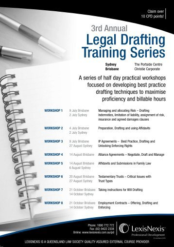 3rd Annual Legal Drafting Training Series - LexisNexis