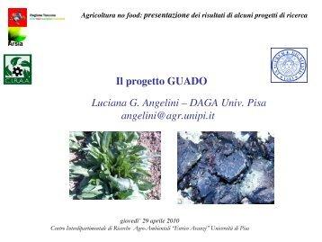 Il progetto GUADO Luciana G. Angelini – DAGA Univ ... - Enrico Avanzi