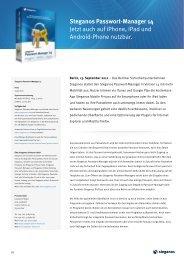 Steganos Passwort-Manager 14 Jetzt auch auf iPhone, iPad und ...