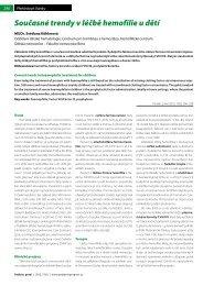 Současné trendy v léčbě hemofilie u dětí