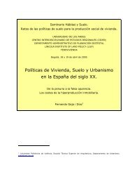 Políticas de Vivienda, Suelo y Urbanismo en la España del siglo XX.