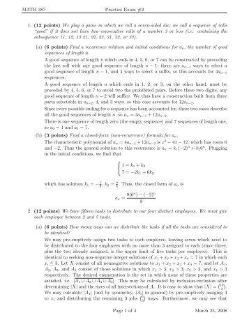 Practice Exam #2 Solutions