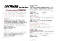 Winterprogramm2008/2009