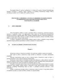 Pravilnik o izborima u zvanja i o izborima na radna mjesta na PMF-a