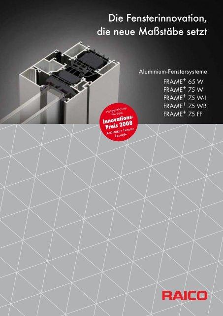 Prospekt FRAME+.indd - Architektur & Technik