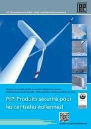 PcP. Produits sécurité pour les centrales éoliennes!