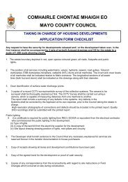 Taking In Charge Of Housing Developments Application Form (PDF ...