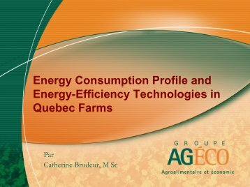 Energy Consumption Profile and Energy-Efficiency Technologies in ...
