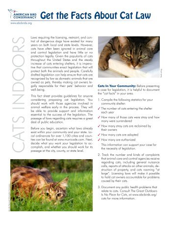 Getting the Facts About Cat Law - American Bird Conservancy