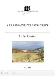 LES SOUS-ENTITES PAYSAGERES 1 - Les Causses