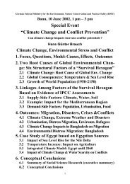 Climate Change, Environmental Stress and Conflict