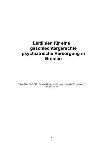 2. Entwurf Leitlinien für eine geschlechtergerechte psychiatrische ...
