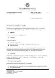 Förslag till beslut, 2012-09-19 - Humanistiska fakulteten, Göteborgs ...
