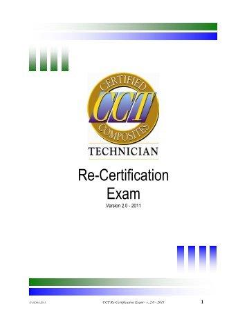 CCT Re-Certification Test - ACMA. American Composites ...