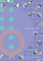 Jaarverslag 2008 - Protestantse Theologische Universiteit