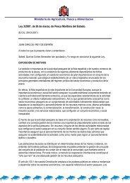 Ley de pesca 2001 - Confederación Española de Pesca Responsable