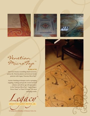 Venetian MicroTop™ - Legacy, Decorative Concrete Systems, Inc.