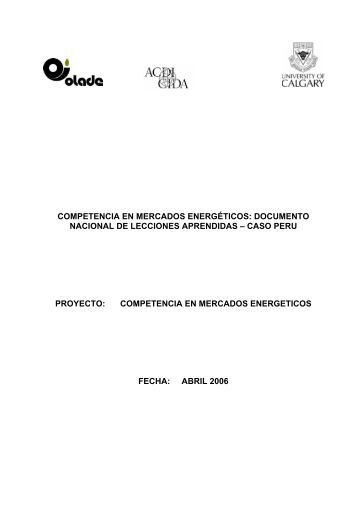 DNLA PERU (.pdf) - OLADE - Organización Latinoamericana de ...