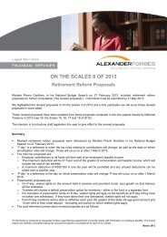 On the Scales 6 of 2013 - UKZN Retirement Fund