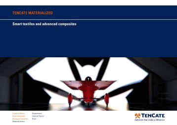 Smart textiles and advanced composites TENCATE MATERIALIZED