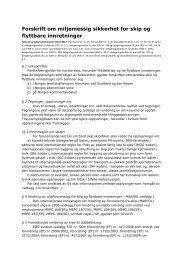 Forskrift om miljømessig sikkerhet for skip og flyttbare innretninger