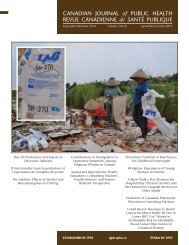 CANADIAN JOURNAL of PUBLIC HEALTH REVUE CANADIENNE ...