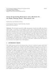 Linear Programming Relaxations and a Heuristic for the Buffer ...