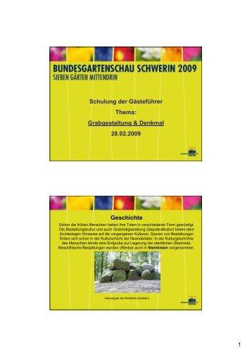 Grabgestaltung & Denkmal 28.02.2009 Geschichte - Sabine Heins