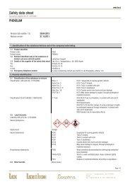 Safety data sheet - Lex doo