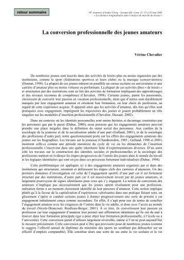 Vérène Chevalier - Centre d'études et de recherches sur les ...