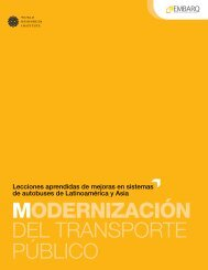 MODERNIZACIÓN del transporte público - World Resources Institute