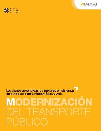 MODERNIZACIÓN del transporte público - World Resources Institute