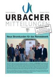 Neue Stromkunden für das Remstalwerk - Gemeinde Urbach