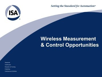 Wireless Measurement & Control Opportunities - Control Global