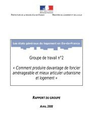 Rapport du groupe 2 - DRIHL Ile-de-France