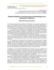 Material didáctico y recursos para el aprendizaje en la educación a ...