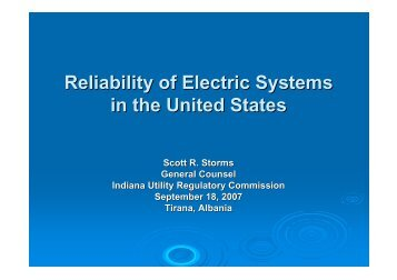 Reliability of Electric Systems in the US - Narucpartnerships.org