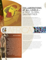 Collaboration at all levels - SKA