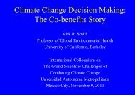 Climate Change Decision Making: The Co-benefits Story