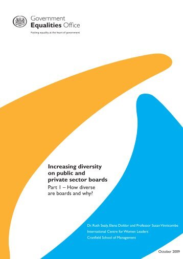 Increasing diversity on public and private sector boards - Cranfield ...