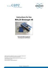 IFU 268711 267615 226413 MALDI Biotarget 48 Rev1 - Bruker