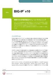 BIG-IP v10 - 期限付きの評価用製品モジュール・ライセンシング