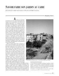 savoir faire son jardin au caire - Annales de la recherche urbaine