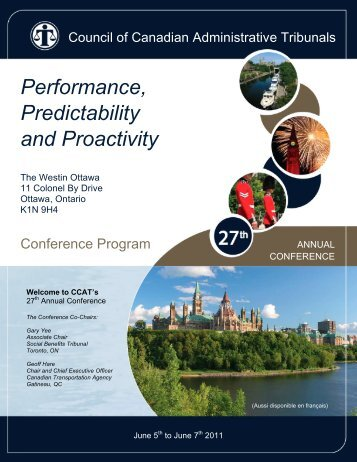 2011 Conference Program - Ccat-ctac.org
