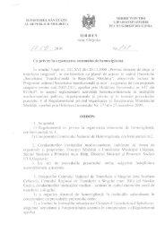Ordin Nr. 638 din 07.09.2010 cu privire la organizarea sistemului de ...