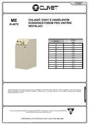 r-407c chladič vody s odděleným kondenzátorem pro vnitřní ... - BTK