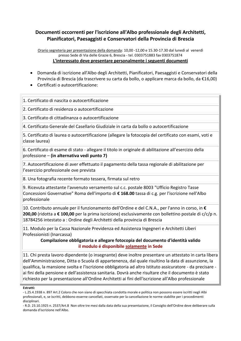 Ordine Architetti Brescia Lavoro 20 free magazines from architettibrescia