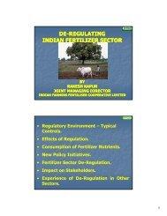 De-Regulating Indian Fertilizer Sector - The Fertiliser Association Of ...