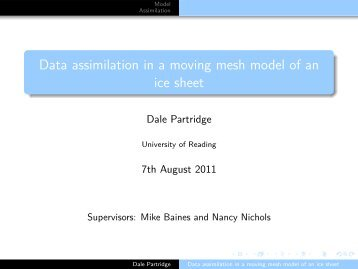 Data assimilation in a moving mesh model of an ice sheet